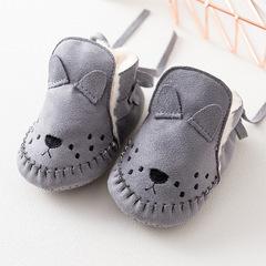 RONI Winter Baby Girl Cute Thick Warm Walking Shoes Boy Fashion Velvet Shoes 01 12