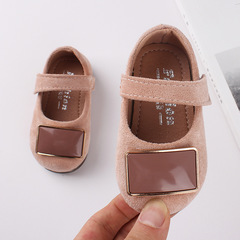 RONI Autumn new girls shoes suede princess shoes baby toddler shoes soft-soled shoes 01 15(11.5cm)