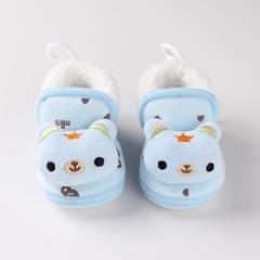 RONI Winter baby girl  velvet thick  shoes boy cute  bear shoes 01 12(11.5cm)