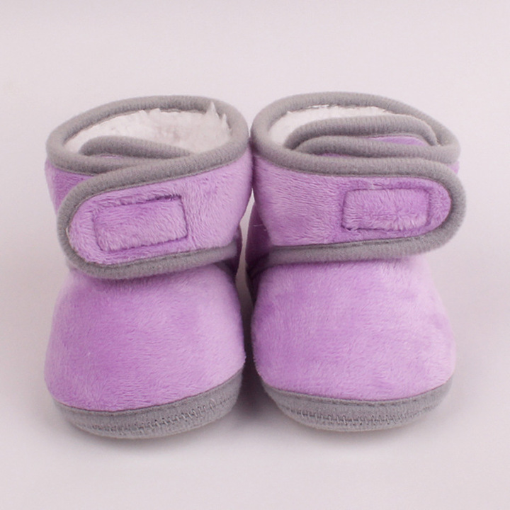 RONI Winter  baby girl  velvet thick cotton shoes boy anti-fall shoes warm shoes 01 12(11.5cm)
