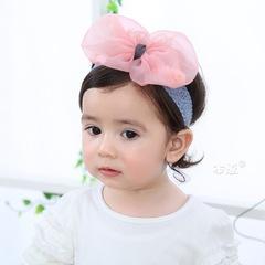 RONI Petal chiffon bow baby elastic hair band 01