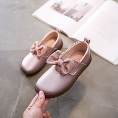 RONI Girls real leather shoes baby princess shoes kids leather soft-soled casual shoes 01 26(16.6cm)