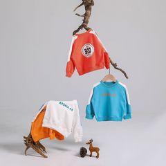 RONI Autumn baby boy fashion digital printing  tops kids 100% cotton sweatshirts girl trend coat pink 80cm