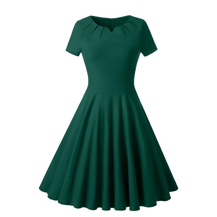 Promtion RONI New women clothes lady V-neck slim short-sleeved dress xxl 01