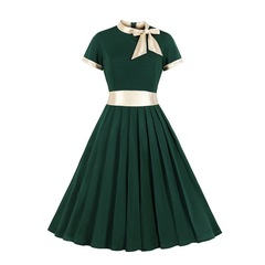 RONI Hot sale women clothes lady strap dress large size short sleeve dress office dress party dress 4xl 01