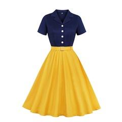 RONI Hot sale women fashion dress lady short sleeve dress large skirt office dress party dress 4xl 01