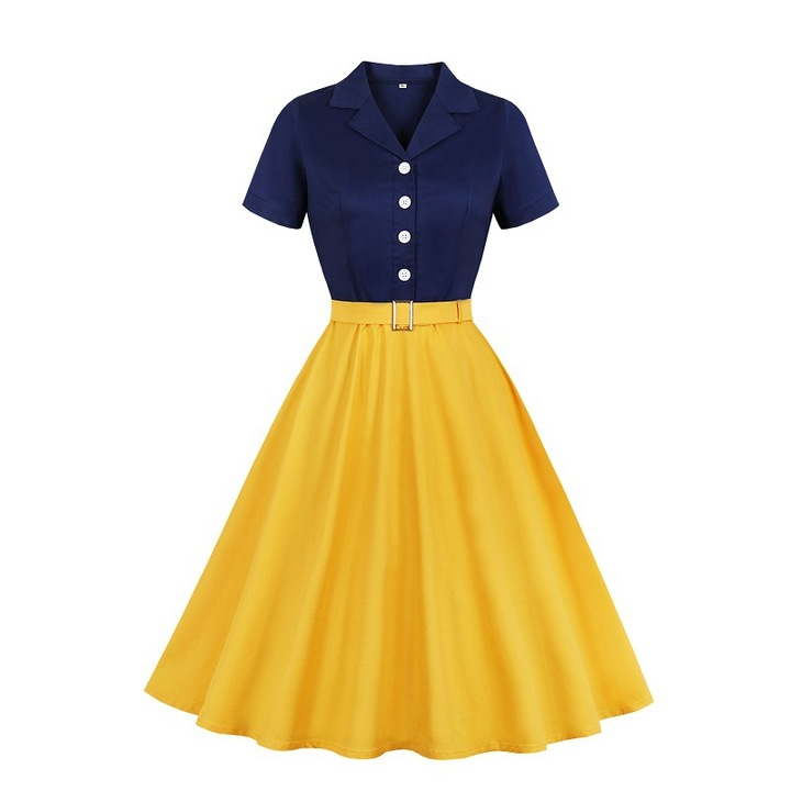 RONI Hot sale women fashion dress lady short sleeve dress large skirt office dress party dress 4xl 01