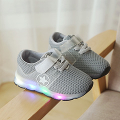 RONI Baby boy fashion glowing casual shoes girl kids LED flash breathable sports shoes 01 21
