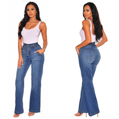 RONI Women jeans trousers high wasit pants hip denim pants 01 s