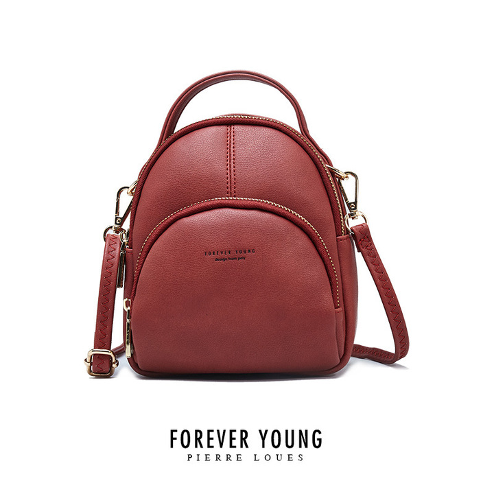 RONI New ladies backpack multi-function small backpack girl fashion casual bag 01 16.0 cm * 7.0 cm * 19.0 cm