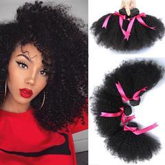RONI 1Bundle Human hair wigs real hair extension Brazilian hair African curly hair natural  black 8inch