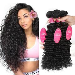 RONI 1Bundle Human hair wigs women real hair extension deep wave hair natural  black 8inch