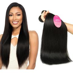 RONI 1Bundle Human hair wigs real hair extension lady straight wave hair wigs natural  black 8inch