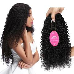 RONI1Bundle  Human hair wigs real hair extension Brazilian kinky curly hair African girl curly hair natural  black 8inch