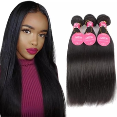 RONI  1Bundle human hair wigs real hair extension lady straight hair wigs natural  black 8inch