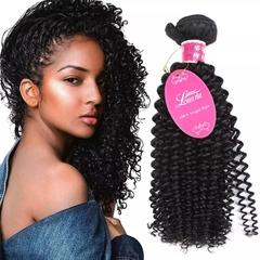 RONI 1Bundle Deep curly hair curtain real human hair lady natural wigs black natural  black 8inch