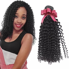 RONI 1Bundle Deep curly Brazilian real hair real human hair wigs girl natural wigs natural  black 8inch
