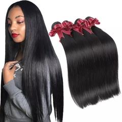 RONI 1Bundle Human hair wigs real hair extension lady straight hair wigs Brazilian hair natural  black 8inch