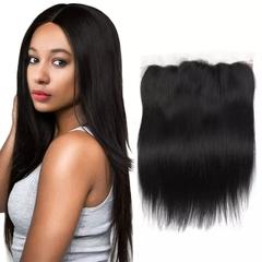 RONI 1Pcs Human hair wigs real hair straight frontal 4x13 hair block lady natural wigs natural  black 8inch