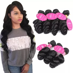 RONI 1Bundle Human hair wigs loose wave virgin Hair lady natural wigs natural  black 8inch
