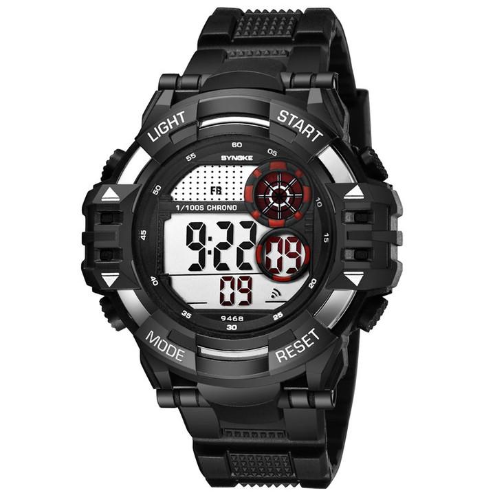 RONI Men outdoor sports watch male electronic watch multi-function waterproof mountaineering watch black all code