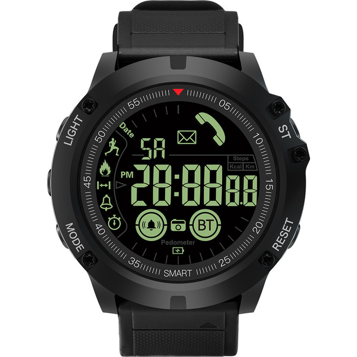 RONI Men smart sports step outdoor watch sports Bluetooth multi-function reminder electronic watch black all code