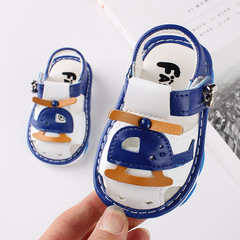 RONI Baby girl soft-soled called shoes boy kids non-slip toddler sandals 01 15(11cm)