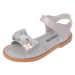 RONI Summer new kids bow princess sandals  baby girl princess shoes 01 27(17.2cm)