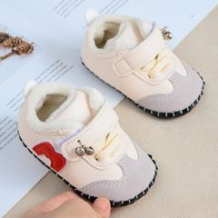 RONI Winter baby  velvet toddler cotton shoes boy soft-soled shoes girl casual shoes 1# 19(13.5cm)