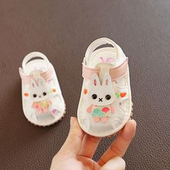 【Only 1 pair】RONI Summer girl sandals glowing walking shoes baby cute flower princess shoes 1# 18(12.5cm)
