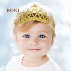 RONI Girl Big Crown  Hair Band Baby Hair Accessories style 1