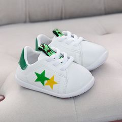 RONI Autumn new baby girl walking shoes boy kids small white shoes casual shoes green 19(13.5cm)