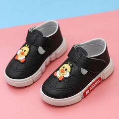 RONI Autumn new baby girl board shoes boy kids small white shoes casual shoes black 26(16.5cm)