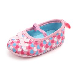 【Promotion】RONI Baby girl sweet  walking shoes non-skid breathable toddler shoes casual shoes Pink 13(12.5cm)