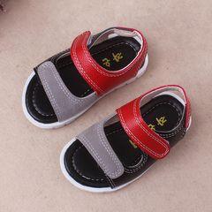 RONI Summer baby boy fashion walking shoes kids leather sandals 1# 24(15.5cm)