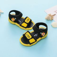 RONI Baby soft-soled shoes boys non-slip beach sandals casual shoes make noise Yellow 27(17cm)