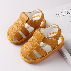 RONI Summer baby fashion sandals boys kids non-slip soft-soled shoes Yellow 19(13cm)