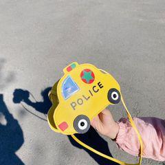 【Promotion】RONI Kids cartoon car messenger bag boys cute shoulder bag  girls wallet bag gift yellow# 18cm*7cm*13cm