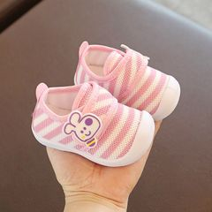 RONI Autumn new baby girl walking shoes boy kids small white shoes casual shoes Pink 21(14CM)