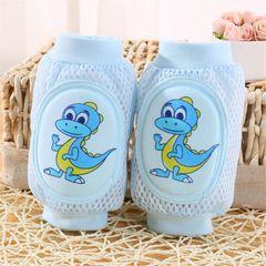 1Pair Kids  Knee Pads Baby Breathable Mesh Large Sponge Baby Crawling Knee Pads Elbow Pads Blue normal