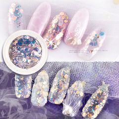 1Box  Nail jewelry new nail sequin glitter patch nail tools Blue