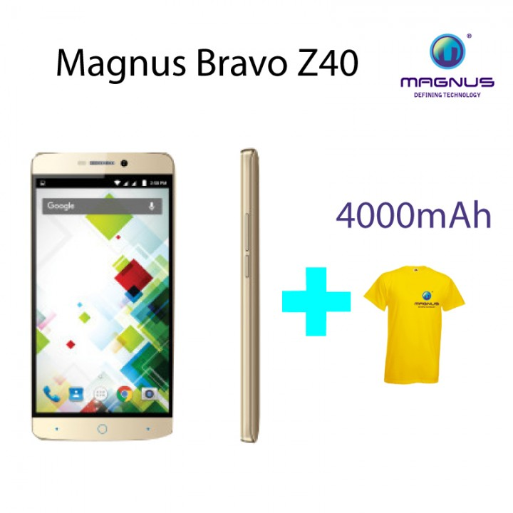 Magnus Bravo Z40- 5 Inches Display 3G Dual SIM, 8MP+5MP Camera, 4000mAh (Super Long Standby Time) Rose Gold