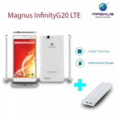 "Magnus InfinityG20 LTE- 5.5"" Display, 4G Dual SIM, 13MP+5MP Camera, 3000mAh white"