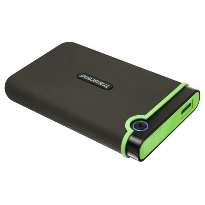 Transcend Military Drop Tested 2 TB USB 3.0 H3 External Hard Drive Grey and Green 2tb