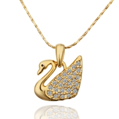 IDM Green gold animal pendant Czech diamond necklace gold alloy