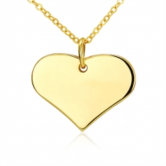 IDM K gold contracted fashion heart-shaped necklace gold alloy