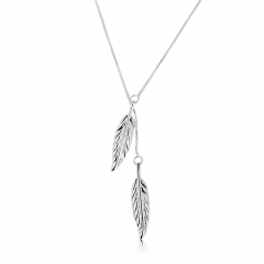 Fashion trend necklace double blade pendant necklace silver-plated one size