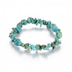 Creative retro wind crystal bracelet turquoise blue woman