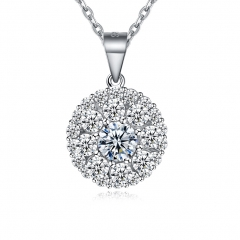 Fashion heart-shaped modelling zircon silver necklace 925silver 925silver woman