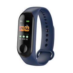 W3 Smart Bracelet Blood Pressure Fitness Tracker Pulse Meter Heart Rate Sleep monitor blue one size